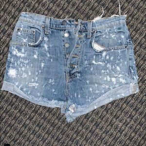 High waisted Carmar denim shorts